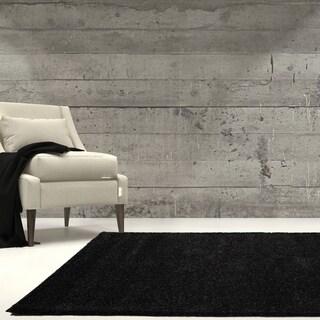 LaDole Rugs Soft Solid Plain Color Durable Area Rug in Dark Grey