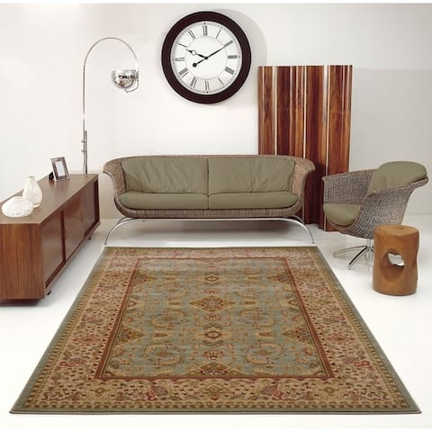 LaDole Rugs Traditional Vintage Beautiful Area Rug Runner in Black Cream