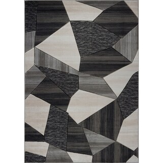 LaDole Rugs Beautiful Soft Modern Mat in Black Dark Grey