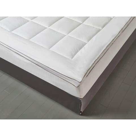Kathy Ireland HOME 225 Thread Count Tencel Down Alternative Fiber Bed Mattress Pad Topper