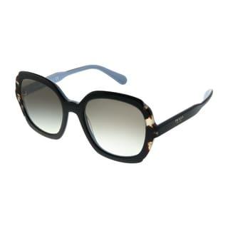 Prada Heritage PR 16US KHR0A7 Womens Black Azure Spotted Brown Frame Grey Gradient Lens Sunglasses