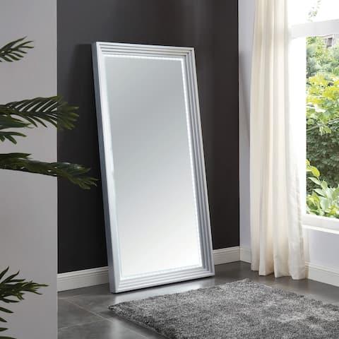 Furniture of America Fick Contemporary Silver 35-inch Hallway Mirror