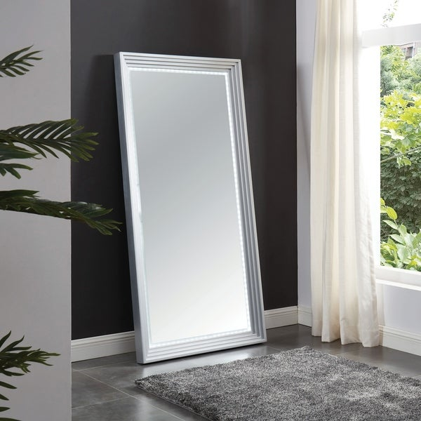 Furniture of America Fick Contemporary Silver 35-inch Hallway Mirror
