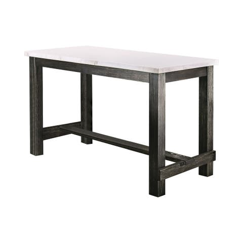 Furniture of America Shap Rustic Black 60-inch Counter Height Table