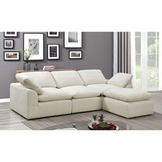 Furniture of America Puct Contemporary Chenille 4-piece Sectional
