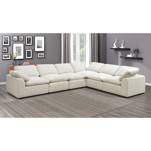 Furniture of America Puct Contemporary Fabric L-shape Sectional