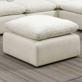 Furniture of America Puct Contemporary Fabric Cushion Top Ottoman