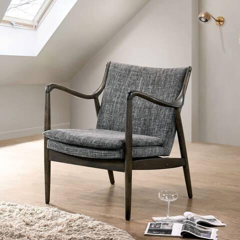 Furniture of America Petz Mid-century Modern Linen Fabric Accent Chair