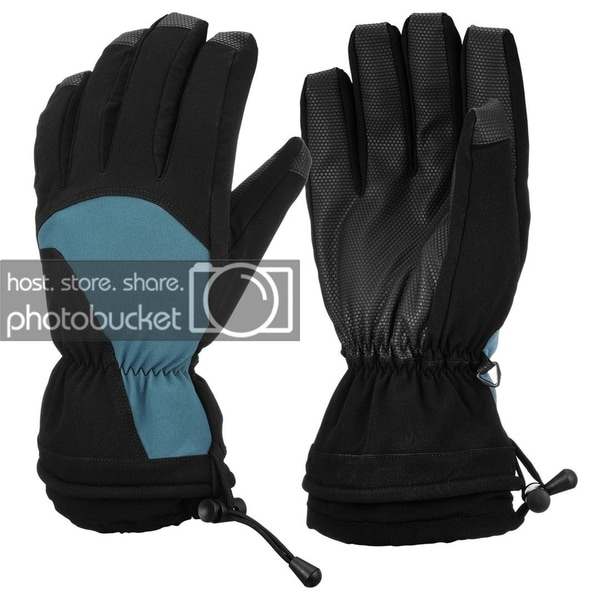 Waterproof Windproof Men's Leather Ski Gloves Winter Thinsulate Thermal Warm Snowboard Snowmobile Ski Gloves. Opens flyout.