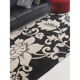 Transitional Floral Hand Tufted Indian Wool Carpet Oriental Area Rug