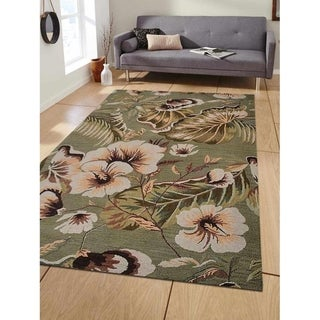 Hand Tufted Floral Transitional Wool Carpet Indian Oriental Area Rug