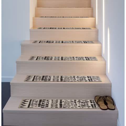 Bohemian Design Geometric Non-Slip Stair Treads