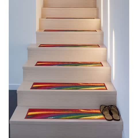 Contemporary Waves Non-Slip Stair Treads