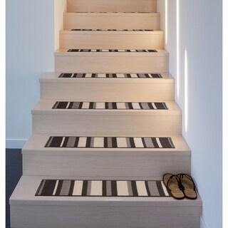 Contemporary Modern Stripe Non-Slip Stair Treads
