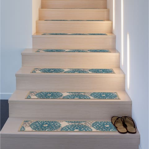Moden Floral Circles Non-Slip Stair Treads