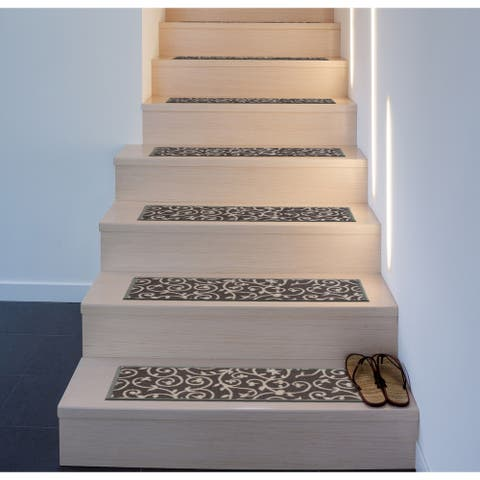 Modern Scroll Non-Slip Stair Treads
