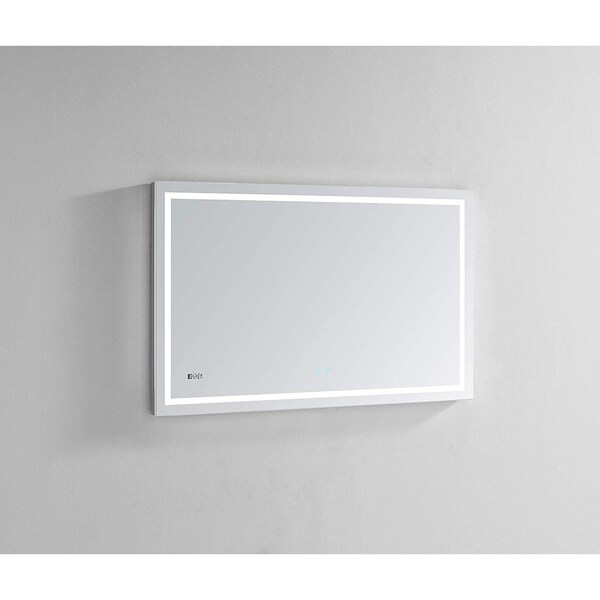 "AQUADOM Daytona Ultra-Slim Frame LED Mirror 48""x30""x1"""