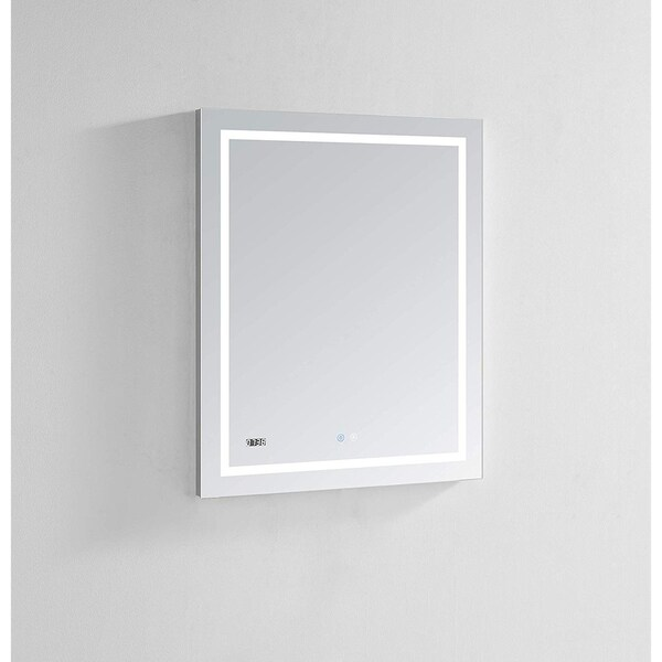 "AQUADOM Daytona Ultra-Slim Frame LED Mirror 30""x36""x1"""