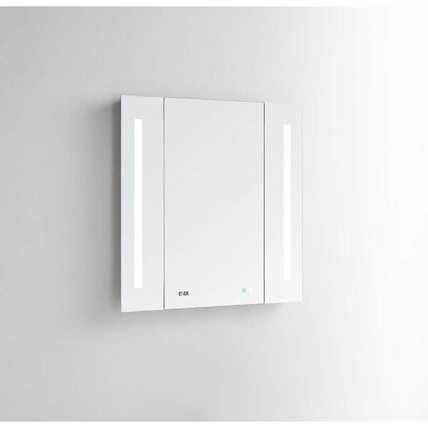 """AQUADOM Breeze, Three Panel Folding, LED Mirror 30""""X36""""X1.5"""""""