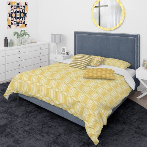Designart 'Retro Ornamental Design III' Mid-Century Modern Duvet Cover Comforter Set