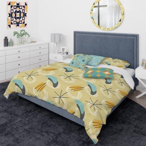 Designart 'Retro Abstract Design II' Mid-Century Modern Duvet Cover Comforter Set