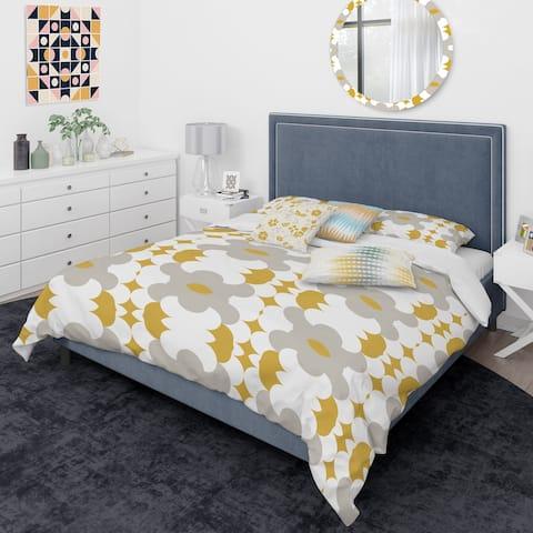 Designart 'Retro Abstract Design XVIII' Mid-Century Modern Duvet Cover Comforter Set