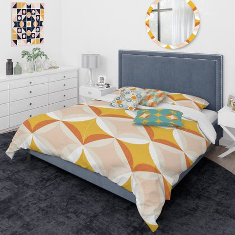 Designart 'Retro Abstract Design XII' Mid-Century Modern Duvet Cover Comforter Set