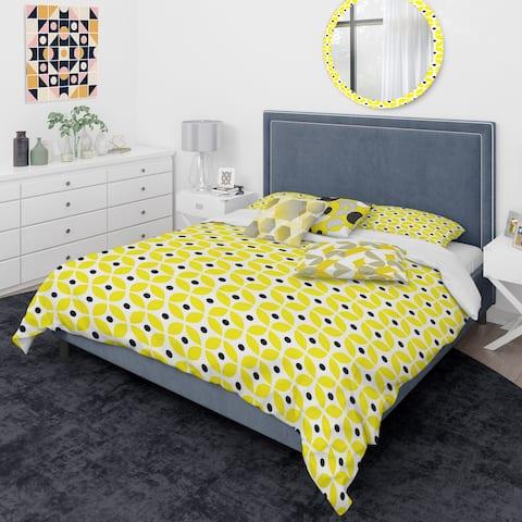 Designart 'Retro Geometric Design I' Mid-Century Modern Duvet Cover Comforter Set