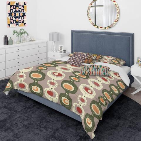 Designart 'Retro Abstract Design X' Mid-Century Modern Duvet Cover Comforter Set