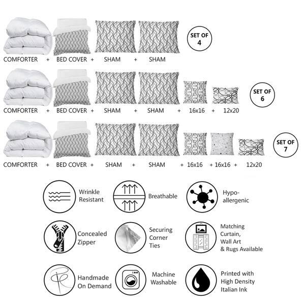 Designart Retro Geometrical Abstract Minimal Pattern X Mid Century Modern Duvet Cover Comforter Set Overstock 29258048
