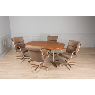 Casual Dining Tan White 5 piece Table and Chairs Set