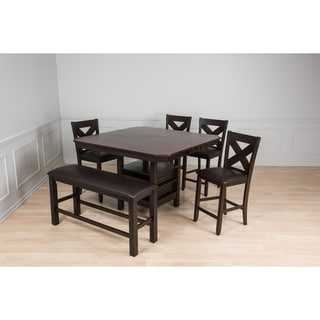 Link to Casual counter height Espresso 6 piece Table and Chairs Set Similar Items in Dining Room & Bar Furniture