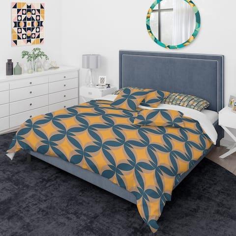 Designart 'Abstract Retro Design III' Mid-Century Modern Duvet Cover Comforter Set