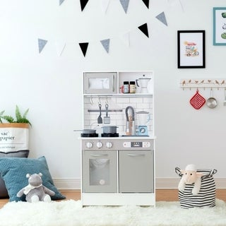 Link to Teamson Kids - Little Chef Valencia Classic Play Kitchen - Grey Similar Items in Pretend Play