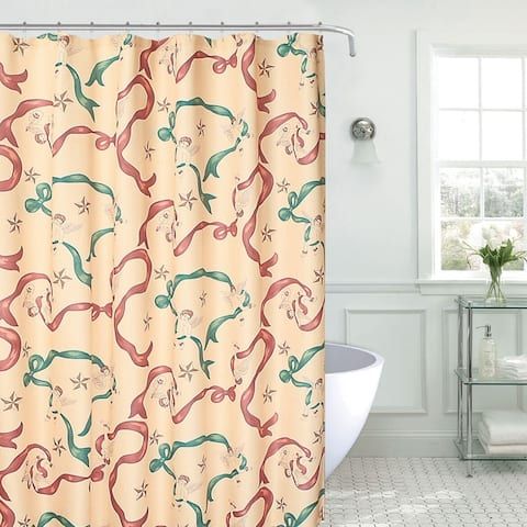 """Polyester Shower Curtain Holiday Themed 70"""" x 70"""""""