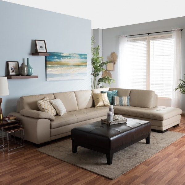 Tan Leather Sofa And Chaise Set Free Shipping Today