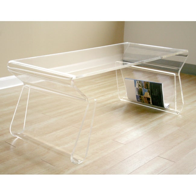 Adair Acrylic Coffee Table Free Shipping Today 11095929