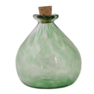 Handmade Verdant Potion Handblown Recycled Glass Jar Mexico Green On Sale Overstock 29295544