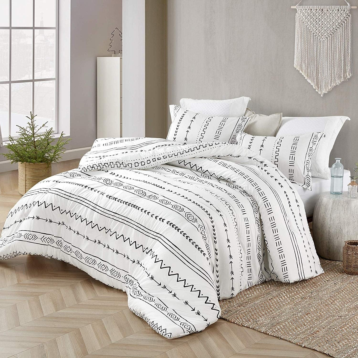 Arrow Black And White Comforter 100 Cotton On Sale Overstock 29295600