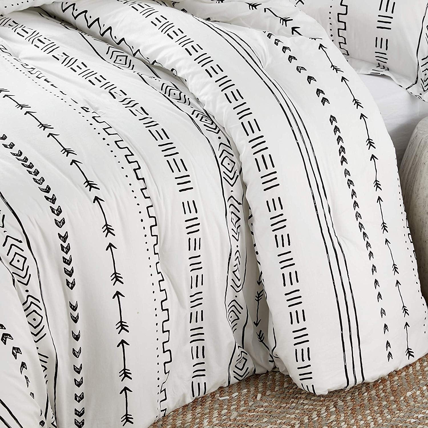 Arrow Black And White Comforter 100 Cotton Overstock 29295600