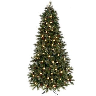 Regency Twinkle Cottonwood Artificial Prelit Tree with Cones Clear Bulbs 5 ft
