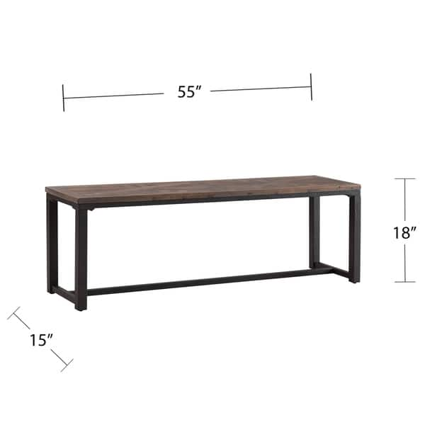 Tremendous Shop Carbon Loft Camden Industrial Brown Wood Dining Set 3Pc Machost Co Dining Chair Design Ideas Machostcouk