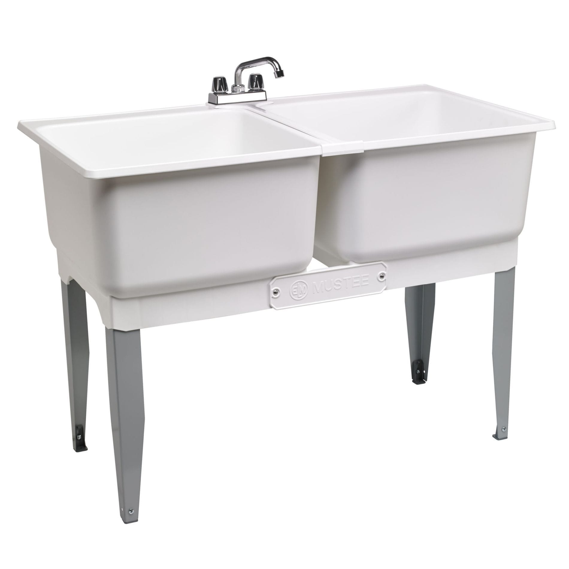 Shop Double Laundry Tub 46 In White Free Shipping Today