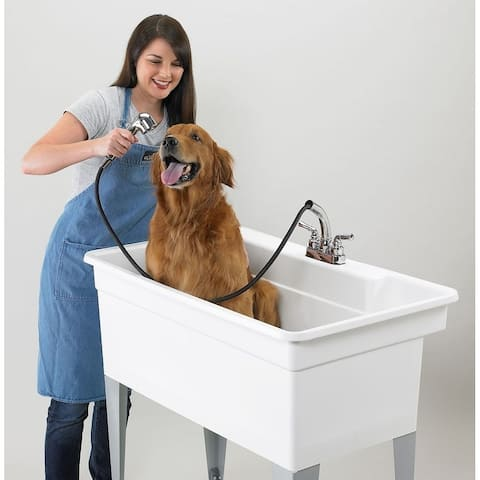 Laundry Tub 40-in - White