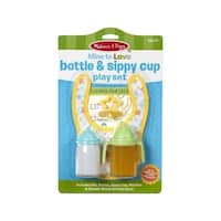 Melissa & Doug Mine to Love Bottle & Sippy Cup Play Set