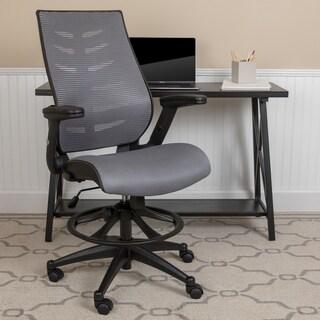 Porch & Den Bucher Mesh Drafting Chair