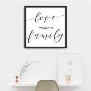 Star Home Décor Love Makes A Family By Elizabeth Framed Canvas Print