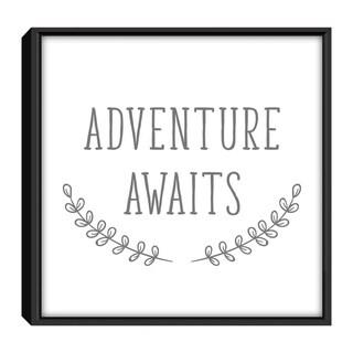 Star Home Décor Adventure Awaits By Elizabeth Framed Canvas Print
