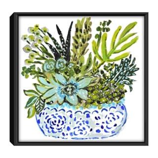Star Home Décor Succelents By Karen Fields Framed Canvas Print