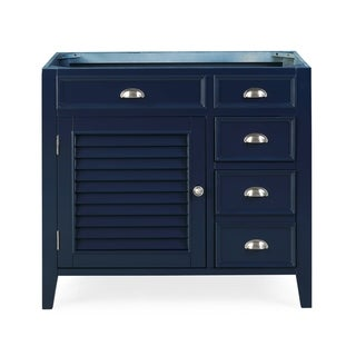 "36"" Benton Collection Zapata Navy Blue No Top Bathroom Vanity"